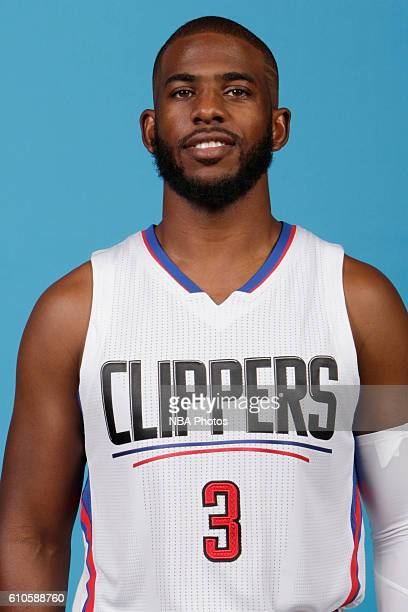 Chris Paul of the Los Angeles Clippers poses for a head shot during the 20162017 Los Angeles Clippers Media Day on September 26 2016 at Los Angeles...