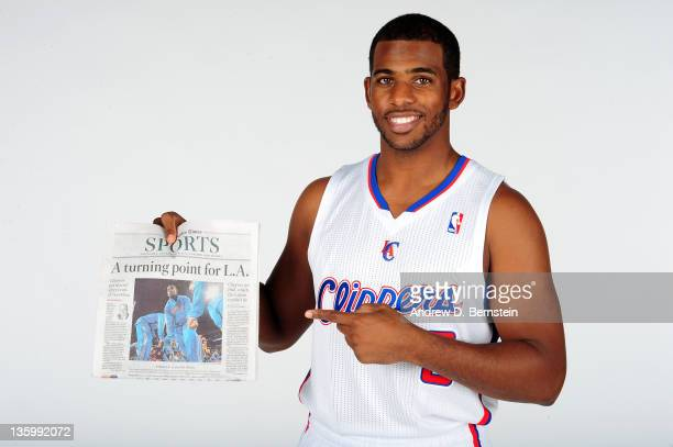 Chris Paul of the Los Angeles Clippers poses for a photo at the Clippers Training Center on December 15, 2011 in Playa Vista, California. NOTE TO...