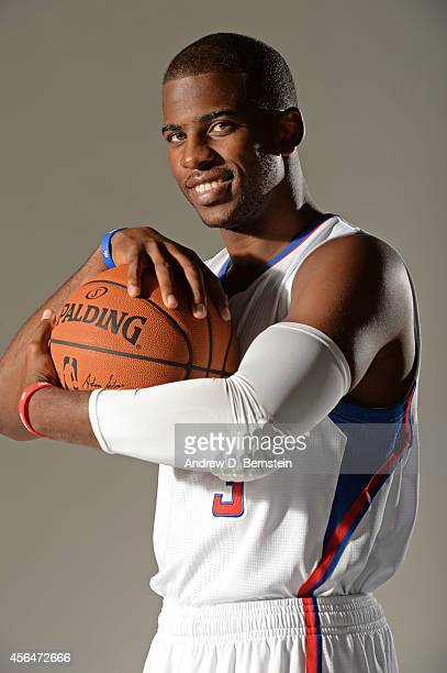 Chris Paul of the Los Angeles Clippers poses for a portrait during the Los Angeles Clippers Media Day at the Los Angeles Clippers Training Facility...