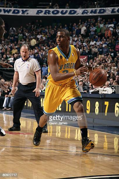 2fcbb61adf1c Chris Paul of the New Orleans Hornets moves the ball up court in Game Four  of