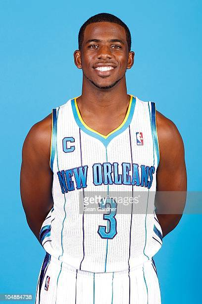 Chris Paul of the New Orleans Hornets poses for a portrait during 2010 NBA Media Day on September 27 2010 at the New Orleans Arena in New Orleans...