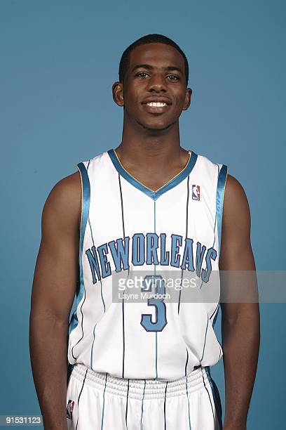 Chris Paul of the New Orleans Hornets poses for a portrait during 2009 NBA Media Day on September 28 2009 at the New Orleans Arena in New Orleans...