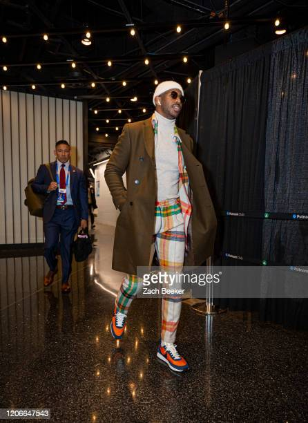 Chris Paul of the Oklahoma City Thunder arrives for the game on March 11 2020 at Chesapeake Energy Arena in Oklahoma City Oklahoma NOTE TO USER User...