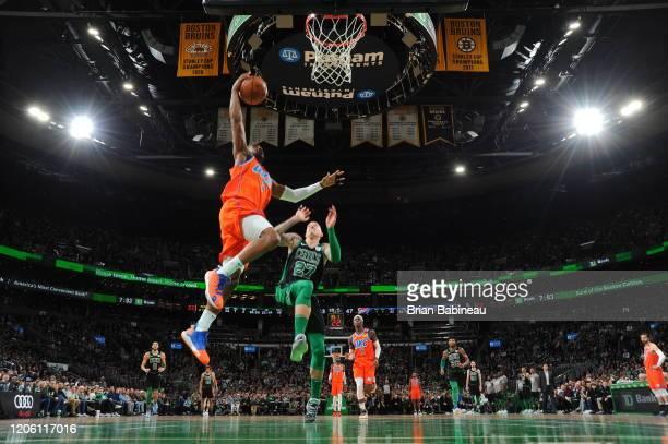 Chris Paul of the Oklahoma City Thunder shoots the ball against the Oklahoma City Thunderon March 8 2020 at the TD Garden in Boston Massachusetts...