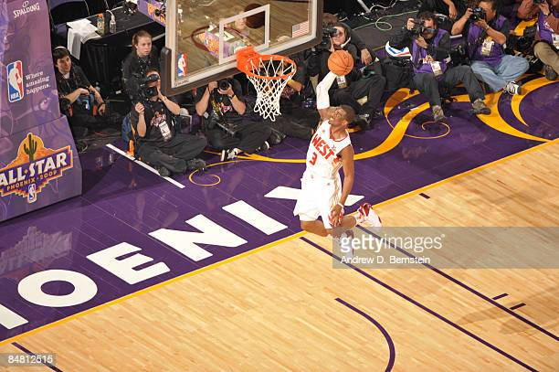 Chris Paul of the Western Conference shoots during the 58th NBA AllStar Game part of 2009 NBA AllStar Weekend at US Airways Center on February 15...