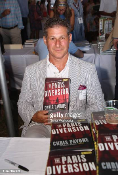 Chris Pavone at the East Hampton Library's 15th Annual Authors Night Benefit on August 10 2019 in Amagansett New York