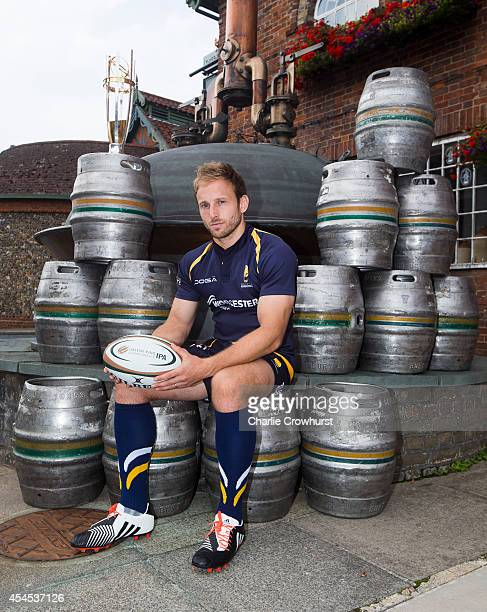 Chris Pennell of Worcester Warriors poses for a photo during the 2014/15 Greene King IPA Championship Captains photocall at Greene King IPA brewery...