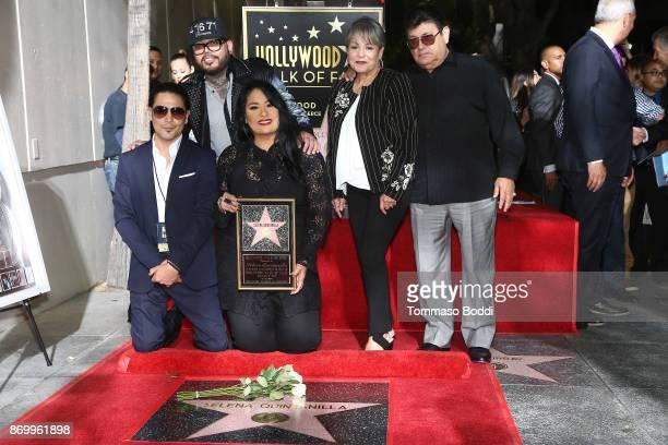 Chris Perez, A.B. Quintanilla III, Suzette Quintanilla, Marcella Samora and Abraham Quintanilla Jr. Attend a ceremony honoring Selena Quintanilla...