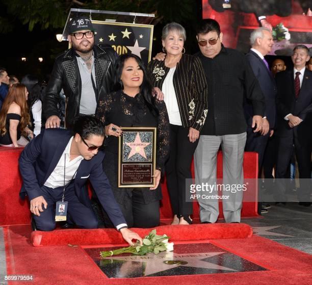 Chris Perez, A.B. Quintanilla III, Suzette Quintanilla, Marcella Samora and Abraham Quintanilla Jr. Attend the ceremony honoring singer Selena...