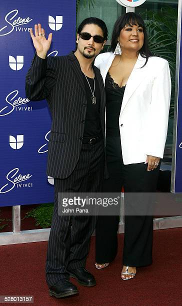 Chris Perez and guest during Selena iVIVE! Tribute Concert - Arrivals at Reliant Stadium in Houston, Texas, United States.