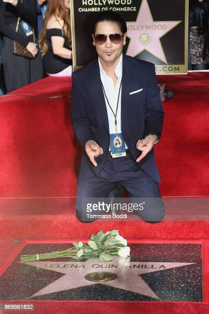 Chris Perez attends a ceremony honoring Selena Quintanilla with a star on The Hollywood Walk Of Fame on November 3 2017 in Hollywood California