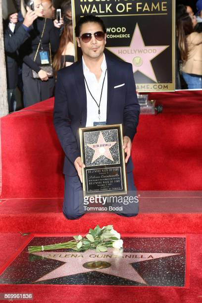 Chris Perez attends a ceremony honoring Selena Quintanilla with a star on The Hollywood Walk Of Fame on November 3, 2017 in Hollywood, California.