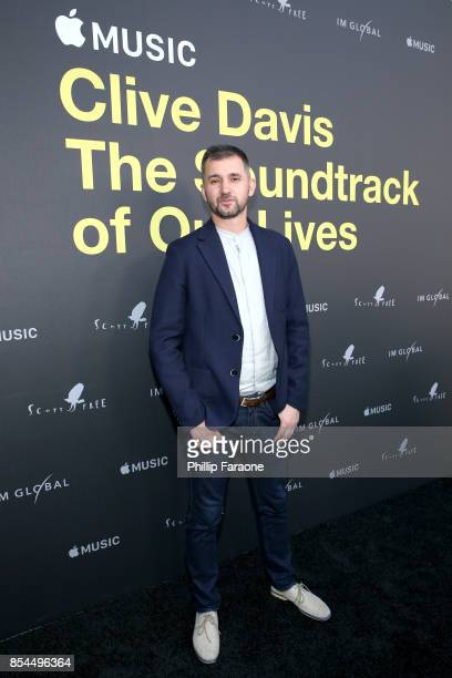 Chris Perkel attends the Apple Music Los Angeles Premiere Of 'Clive Davis The Soundtrack Of Our Lives' at Pacific Design Center on September 26 2017...
