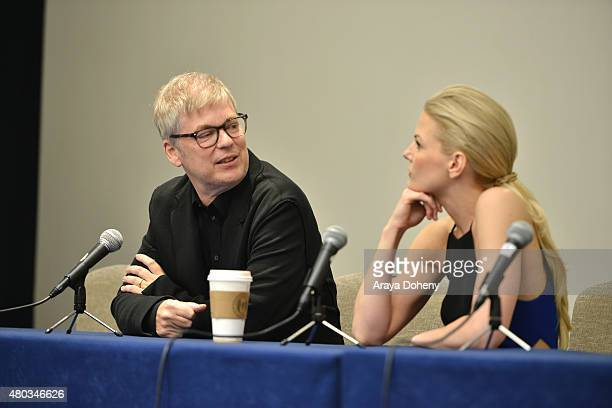 Chris Peters and Jennifer Morrison attend the ComicCon International 2015 'To Dust Return' Panel at the Manchester Grand Hyatt on July 10 2015 in San...