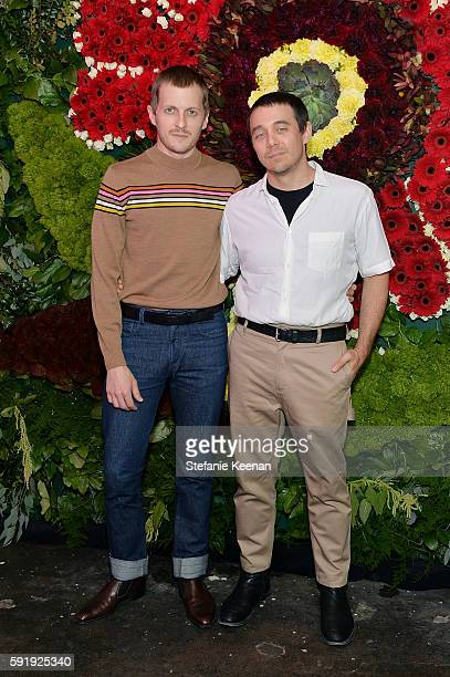 Chris Peters and Shane Gabier attend Just One Eye x Creatures of the Wind Collaboration Dinner at Just One Eye on August 18 2016 in Los Angeles...