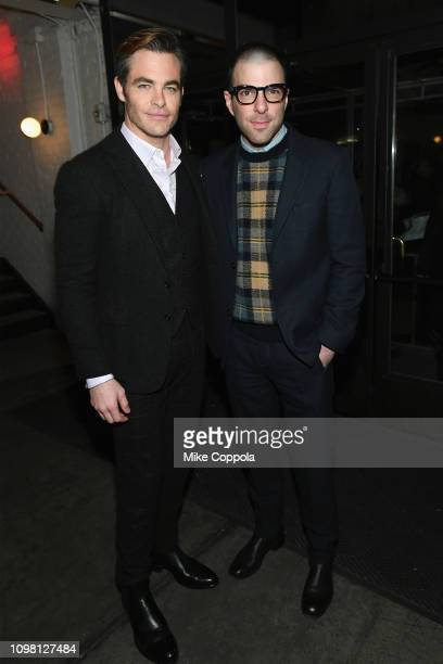 Chris Pine and Zachary Quinto attend the 'I Am the Night' Premiere at Metrograph on January 22 2019 in New York City 484171