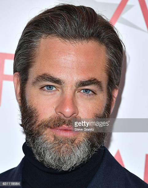 Chris Pine arrives at the 17th Annual AFI Awards at Four Seasons Hotel Los Angeles at Beverly Hills on January 6 2017 in Los Angeles California