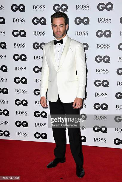 Chris Pine arrives for GQ Men Of The Year Awards 2016 at Tate Modern on September 6 2016 in London England