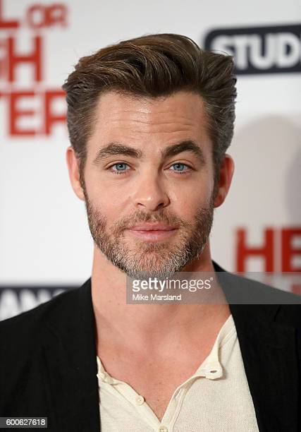 Chris Pine arrives for the gala screening of 'Hell Or High Water' at Washington Hotel on September 8 2016 in London England