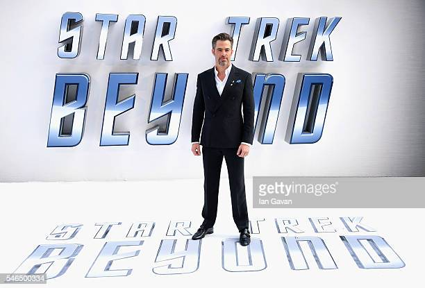 """Chris Pine arrives for the UK premiere of """"Star Trek Beyond"""" at Empire Leicester Square on July 12, 2016 in London, UK."""