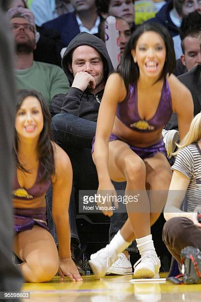 Chris Pine attends a game between the Houston Rockets and the Los Angeles Lakers at Staples Center on January 5 2010 in Los Angeles California