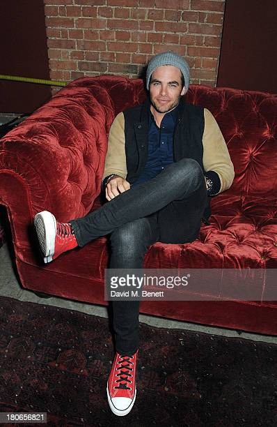 Chris Pine attends a party hosted by Equipment celebrating the release of 'Paris Spleen The Kills Live At L'Olympia' during London Fashion Week SS14...