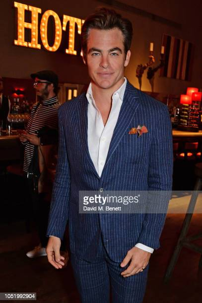 Chris Pine attends a screening of Alfonso Cuaron's Roma hosted by Netflix David Heyman at The Ham Yard Hotel on October 12 2018 in London England