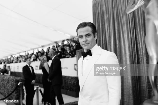 Chris Pine attends the 25th Annual Screen ActorsGuild Awards at The Shrine Auditorium on January 27, 2019 in Los Angeles, California. 480518