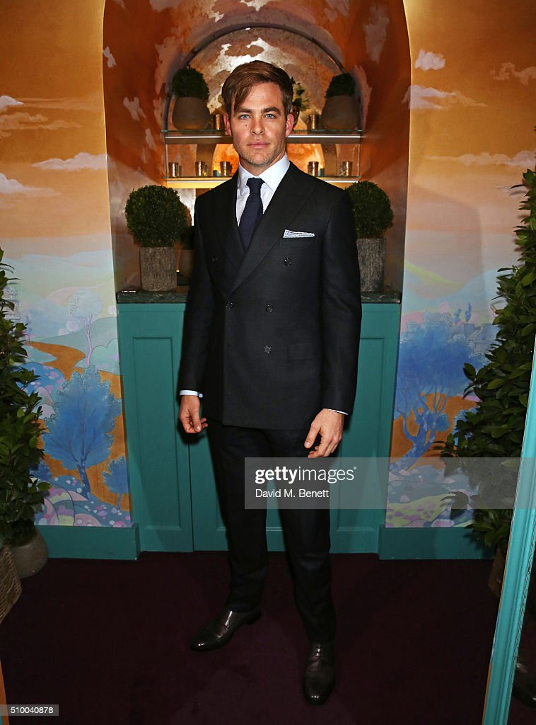 Chris Pine attends the Charles Finch and Chanel Pre-BAFTA cocktail party and dinner at Annabel's on February 13, 2016 in London, England.