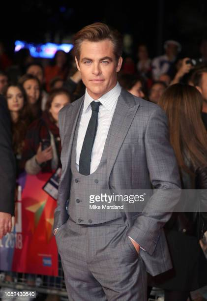 Chris Pine attends the European Premiere of Outlaw King Headline gala during the 62nd BFI London Film Festival on October 17 2018 in London England