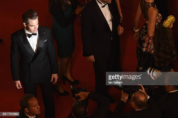 Chris Pine attends the Hands Of Stone premiere during the 69th annual Cannes Film Festival at the Palais des Festivals on May 16 2016 in Cannes France