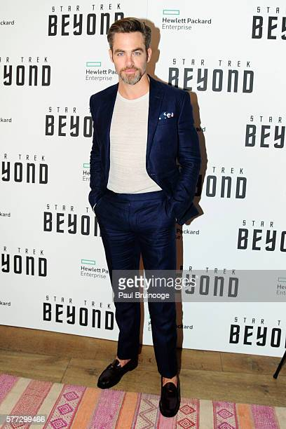 Chris Pine attends the Hewlett Packard Enterprise Presents a New York Special screening of 'Star Trek Beyond' at the Crosby Street Hotel on July 18...