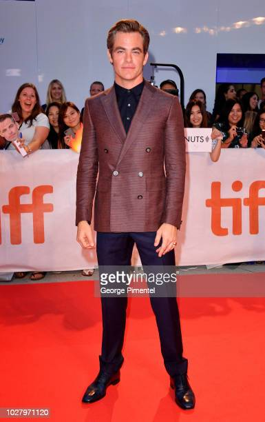 Chris Pine attends the Outlaw King premiere during the 2018 Toronto International Film Festival at Roy Thomson Hall on September 6 2018 in Toronto...