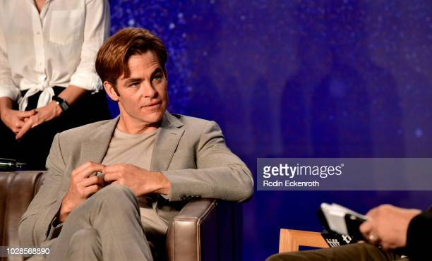 Chris Pine attends the Outlaw King press conference during 2018 Toronto International Film Festival at TIFF Bell Lightbox on September 7 2018 in...