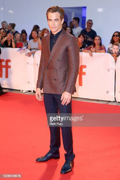 Chris Pine attends the Outlaw King TIFF 2018 opening night red carpet on September 6 2018 in Toronto Canada