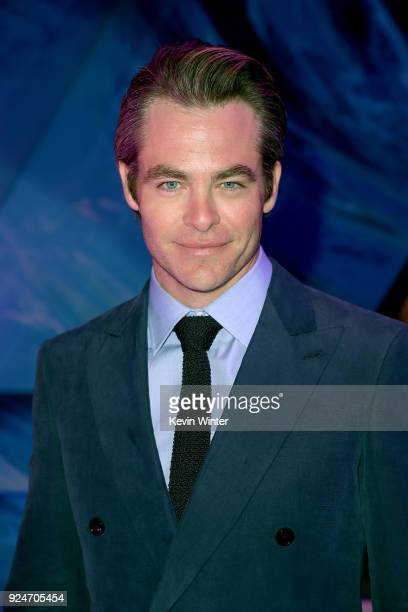 Chris Pine attends the premiere of Disney's A Wrinkle In Time at the El Capitan Theatre on February 26 2018 in Los Angeles California