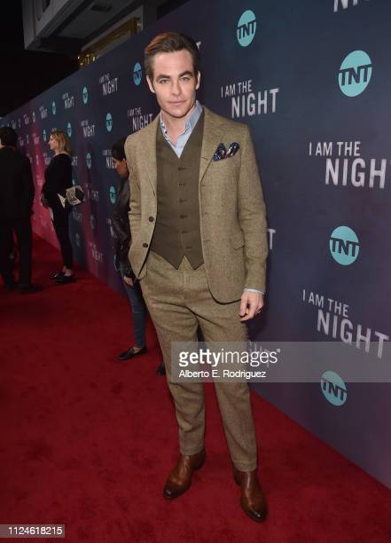 Chris Pine attends the premiere of TNT's I Am The Night at Harmony Gold on January 24 2019 in Los Angeles California