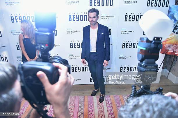 """Chris Pine attends the """"Star Trek Beyond"""" New York Premiere at Crosby Street Hotel on July 18, 2016 in New York City."""