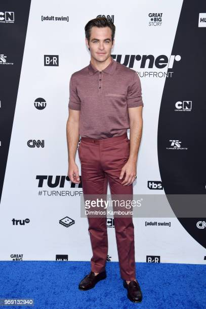 Chris Pine attends the Turner Upfront 2018 arrivals on the red carpet at The Theater at Madison Square Garden on May 16 2018 in New York City 376263