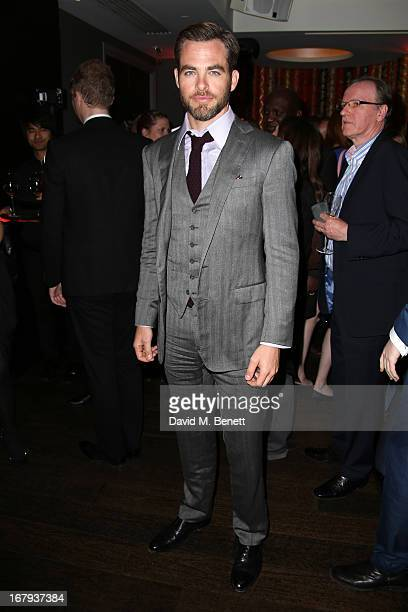 Chris Pine attends the UK Premiere After Party of 'Star Trek Into Darkness' at Aqua on May 2 2013 in London England