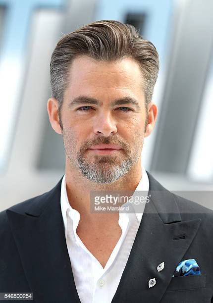 """Chris Pine attends the UK Premiere of """"Star Trek Beyond"""" at Empire Leicester Square on July 12, 2016 in London, England."""