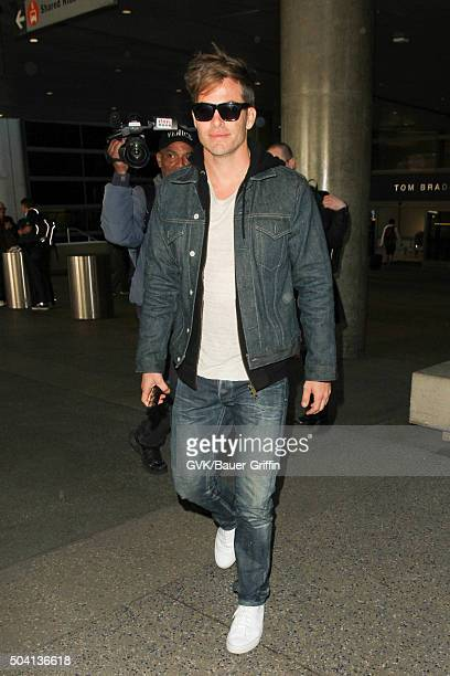 Chris Pine is seen at LAX on January 08 2016 in Los Angeles California