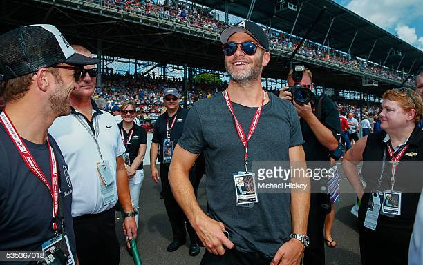 Chris Pine is seen at the Indianapolis Motor Speedway on May 29 2016 in Indianapolis Indiana