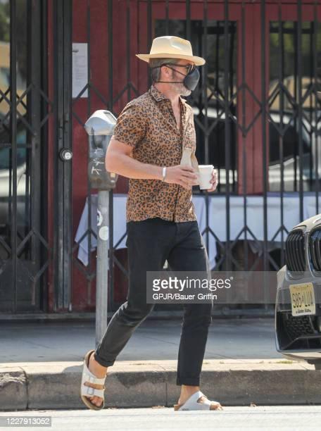 Chris Pine is seen on August 04, 2020 in Los Angeles, California.