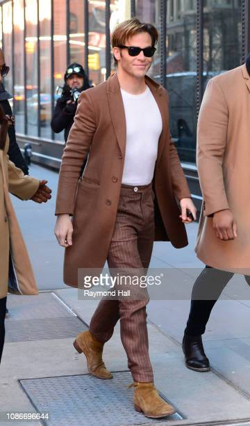 Chris Pine is seen on January 22, 2019 in New York City.