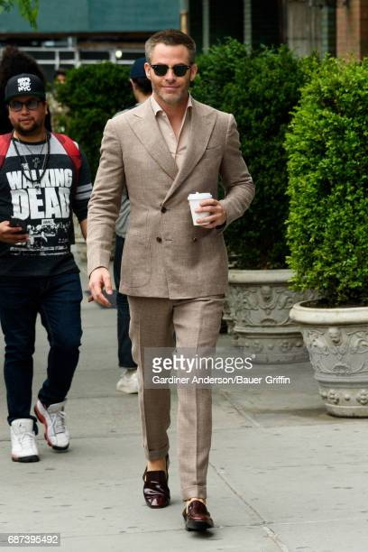 Chris Pine is seen on May 23 2017 in New York City
