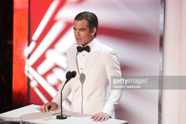 Chris Pine onstage during the 25th Annual Screen ActorsGuild Awards at The Shrine Auditorium on January 27, 2019 in Los Angeles, California. 480468