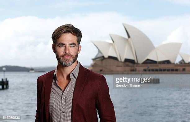 Chris Pine poses during a photo call for Star Trek Beyond on July 7 2016 in Sydney Australia