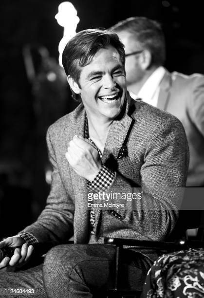 """Chris Pine speaks onstage at the """"I Am the Night"""" Influencer Junket on January 23, 2019 in Los Angeles, California. 484192."""