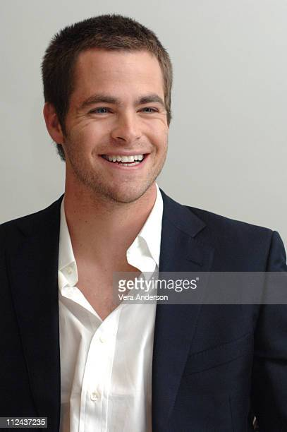 Chris Pines during Just My Luck Press Conference with Lindsay Lohan and Chris Pines at Four Seasons Hotel in Beverly Hills California United States